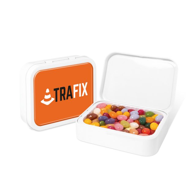 White Sweet Tin – The Jelly Bean Factory®