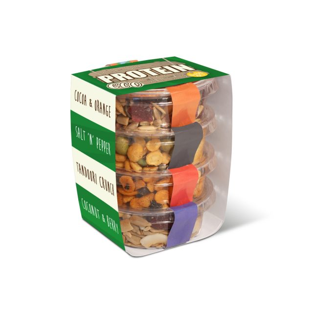Eco Range – Eco Pot Stackers – Healthy Protein Snacks
