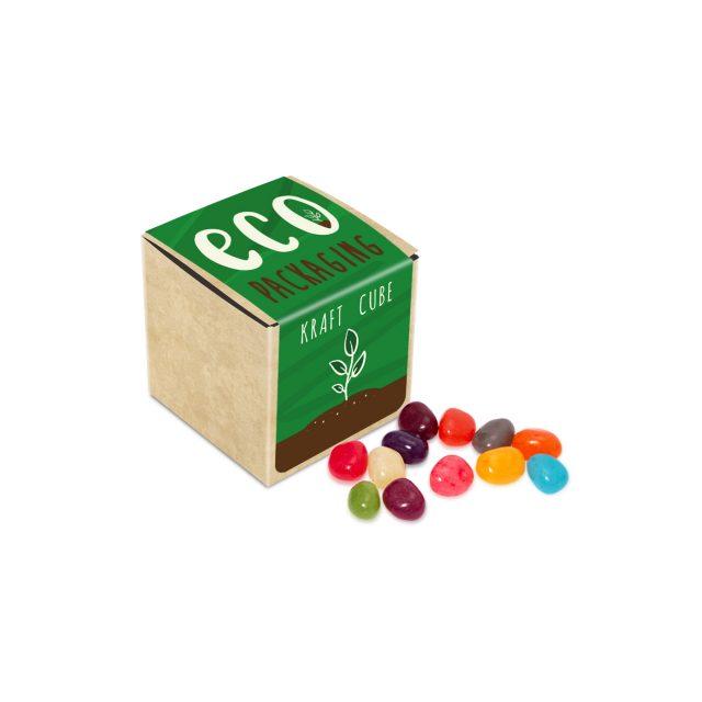 Eco Range – Eco Kraft Cube – The Jelly Bean Factory® – 50g
