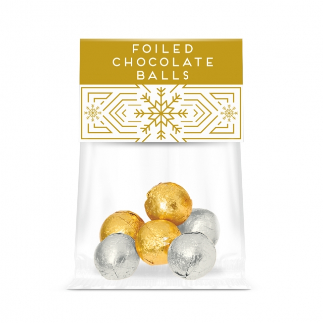 Winter Collection – Eco Info Card – Foiled Chocolate Balls