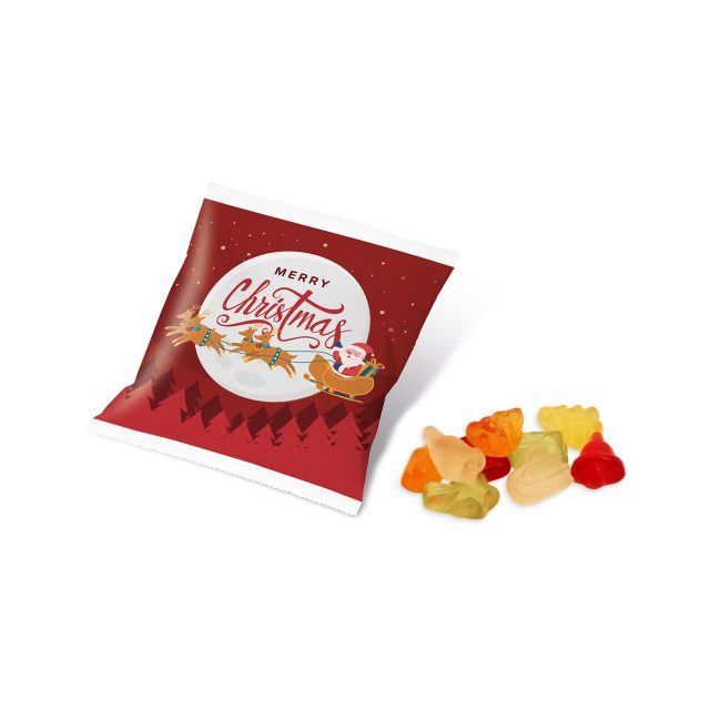 Christmas – Flow Bag – Kalfany Christmas Fruit Gums – 10g