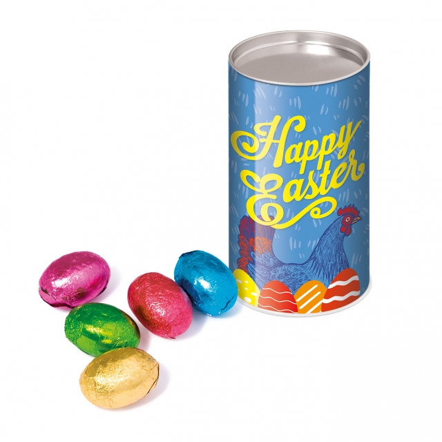 Easter – Small snack tube – Foiled Chocolate Eggs