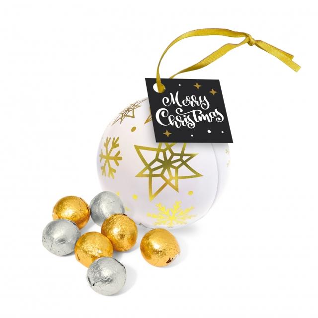 Bauble Tin – Foiled Chocolate Balls