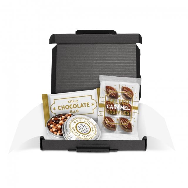 Gift Boxes – Mini Black Postal Box – Chocolate Edition
